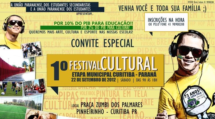 1º Festival Cultural da União Paranaense dos Estudantes - PORTIFÓLIO
